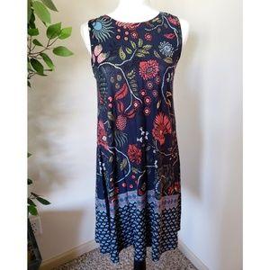 LOFT | Boho Sleeveless Swing Dress